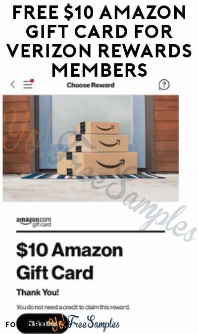 FREE $3-10 Amazon Gift Card For Verizon Rewards Members