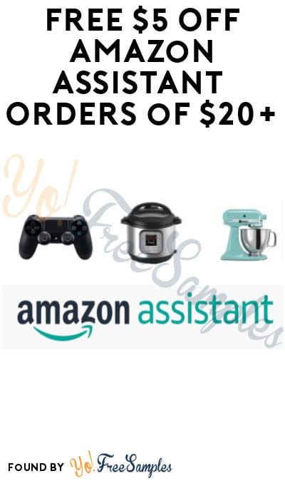 FREE $5 Off Amazon Assistant Orders of $20+ (Select Accounts & Code Required)