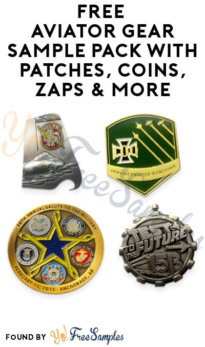 FREE Aviator Gear Sample Pack with Patches, Coins, Zaps & More (Organization Name Required)