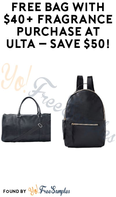 DEAL ALERT: FREE Bag with $40+ Fragrance Purchase at ULTA – Save $50!