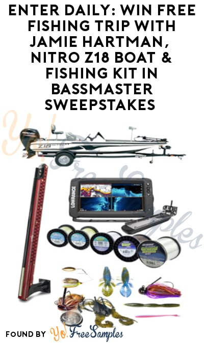 Enter Daily: Win FREE Fishing Trip with Jamie Hartman, Nitro Z18 Boat & fishing Kit in Bassmaster Sweepstakes