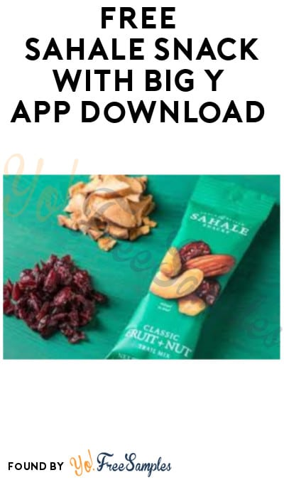 FREE Sahale Snack with Big Y App Download
