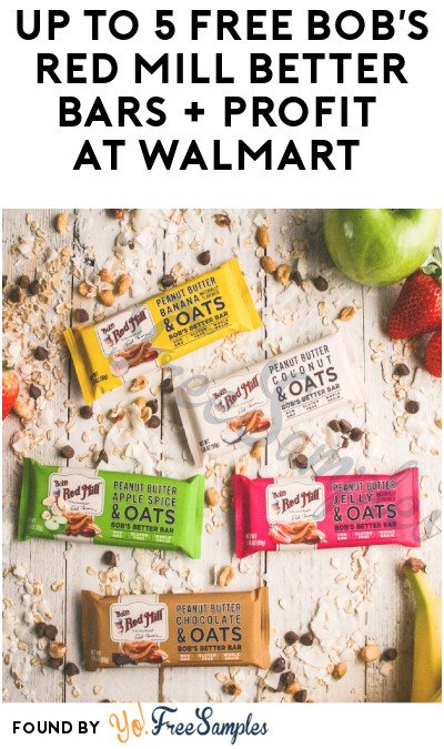 5 FREE Bob's Red Mill Better Bars + Profit at Walmart (Ibotta Required)