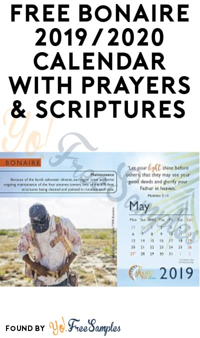 FREE Bonaire 2019/2020 Calendar with Prayers & Scriptures