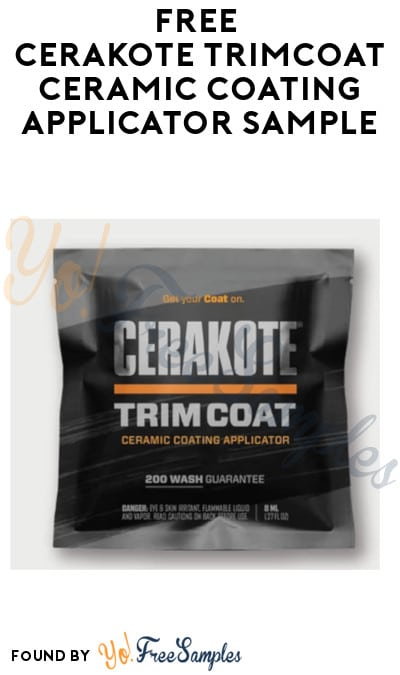 FREE Cerakote TrimCoat Ceramic Coating Applicator Sample (Email Confirmation Required)
