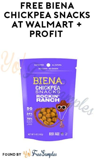 FREE Biena Chickpea Snacks at Walmart + Profit (Ibotta Required)