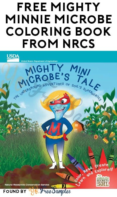 FREE Mighty Minnie Microbe Coloring Book from NRCS