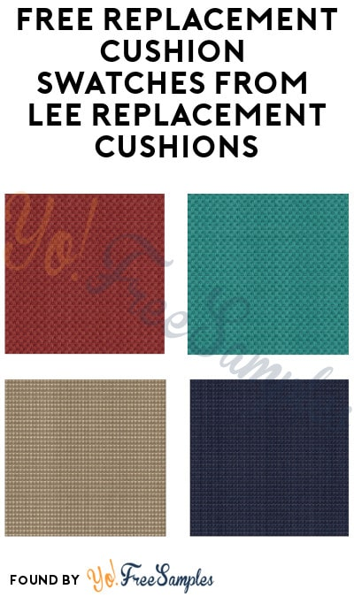 FREE Replacement Cushion Swatches from Lee Replacement Cushions