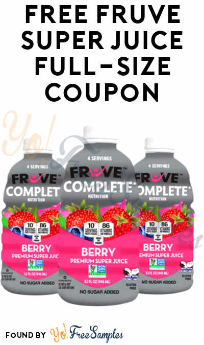 Back! FREE FrUve Super Juice Full-Size Coupon