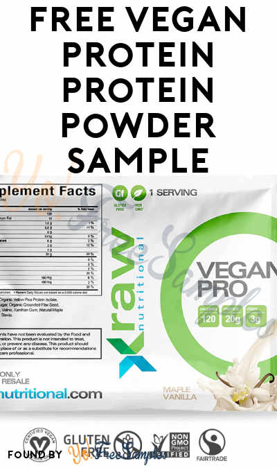 FREE Vegan Pro Protein Powder Sample
