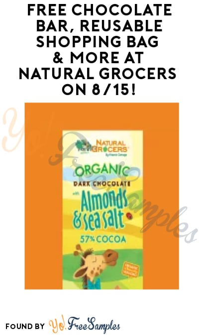 FREE Chocolate Bar, Reusable Shopping Bag & More at Natural Grocers on 8/15! (Club Membership Required)