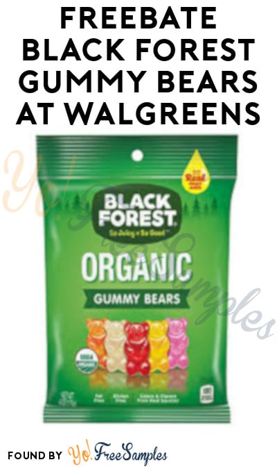 FREEBATE Black Forest Gummy Bears at Walgreens (Rewards Card Required)