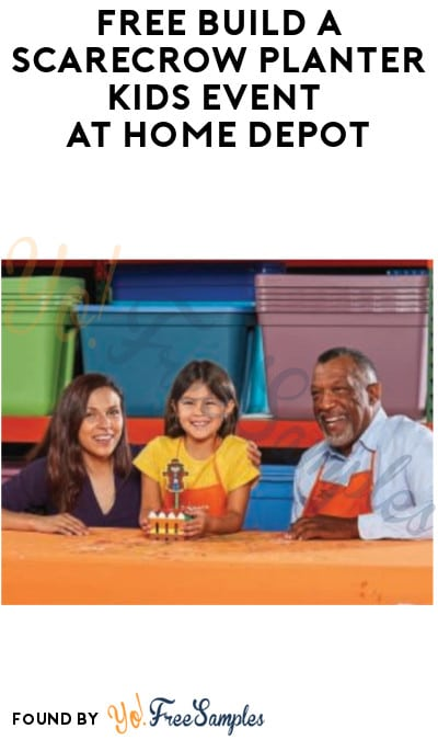 FREE Build a Scarecrow Planter Kids Event at Home Depot (Must Register)
