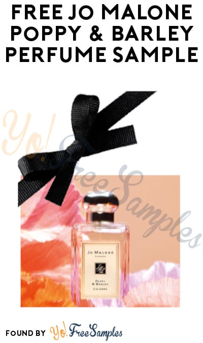 FREE Jo Malone Poppy & Barley Perfume Sample (Email Confirmation Required)