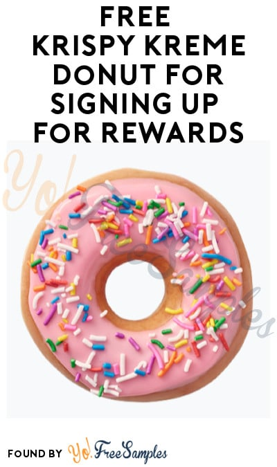 FREE Krispy Kreme Donut for Signing Up for Rewards