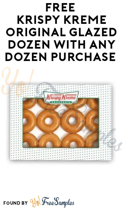 FREE Krispy Kreme Original Glazed Dozen With Any Dozen Purchase (Rewards Members Only)