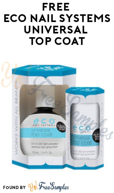 FREE Eco Nail Systems Universal Top Coat (Beauty License Required)