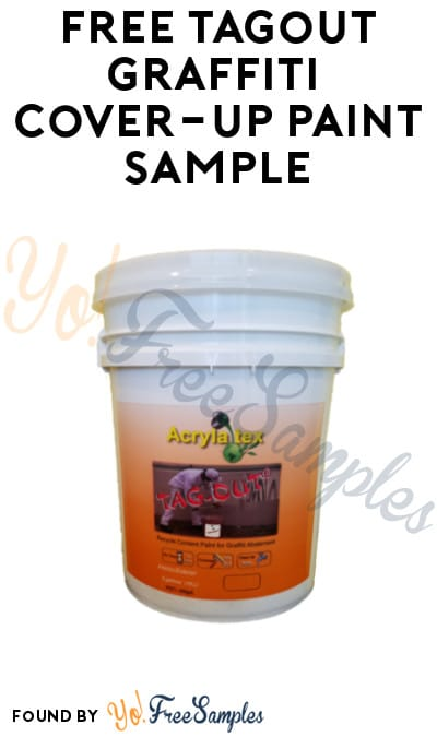 FREE Tagout Graffiti Cover-up Paint Sample (Company Name Required)