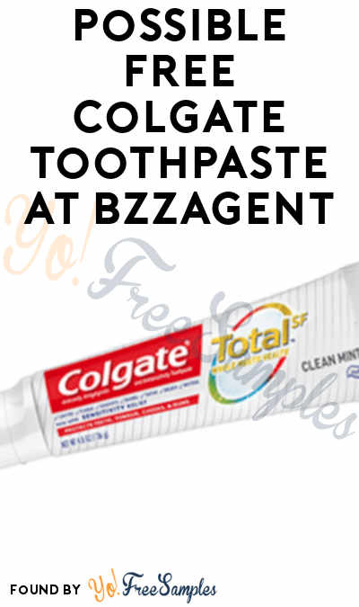 Possible FREE Colgate Toothpaste At BzzAgent
