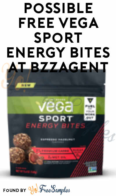 Possible FREE Vega Sport Energy Bites At BzzAgent