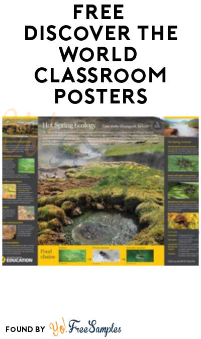 FREE Discover The World Classroom Posters for Educators