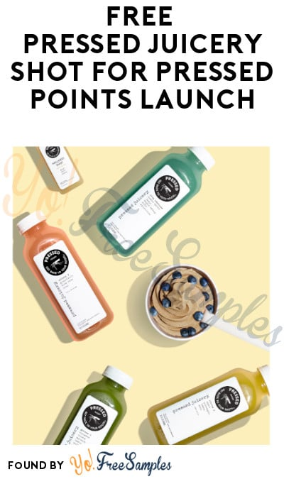 FREE Pressed Juicery Shot for Pressed Points Launch (Pre-Registration Required)