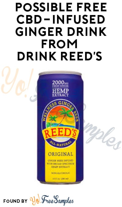 Possible FREE CBD-Infused Ginger Drink from Drink Reed's (Facebook Required)
