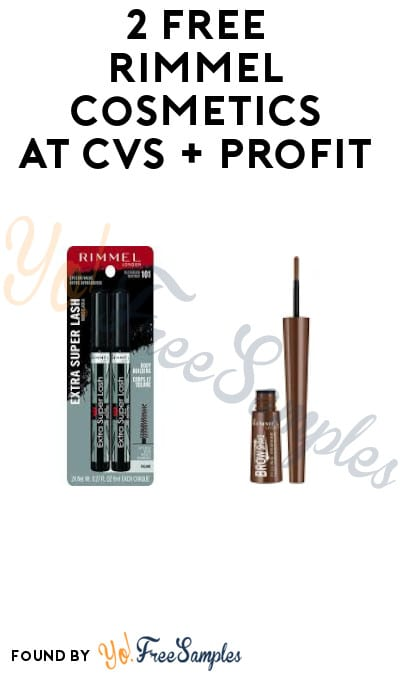 2 FREE Rimmel Cosmetics at CVS + Profit (Rewards Card Required)
