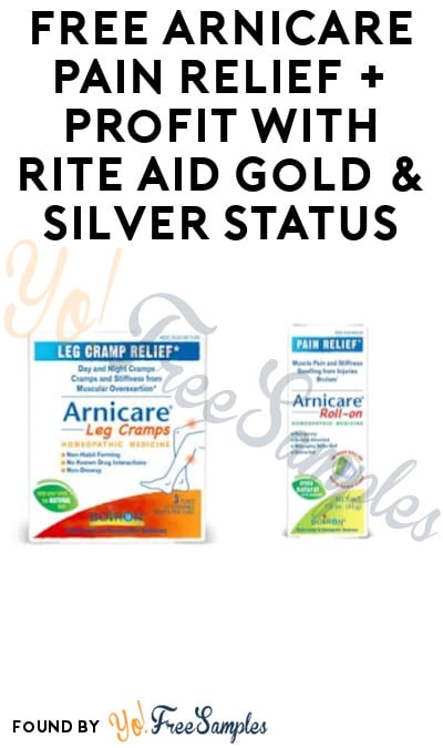 FREE Arnicare Pain Relief + Profit with Rite Aid Gold & Silver Status! (Wellness+ Card & Ibotta Required)