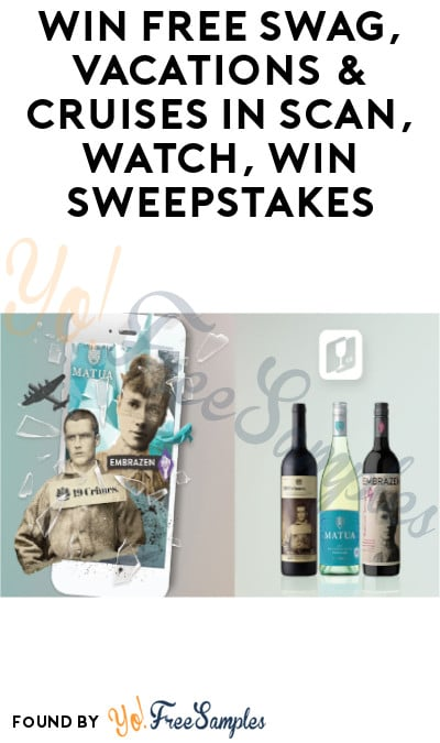 Enter Daily: Win FREE Swag, Vacations & Cruises in Scan, Watch, Win Sweepstakes (Ages 21 & Older)