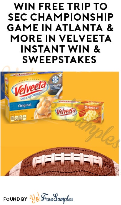 Enter Daily: Win FREE Trip to SEC Championship Game in Atlanta & More in Velveeta Instant Win & Sweepstakes