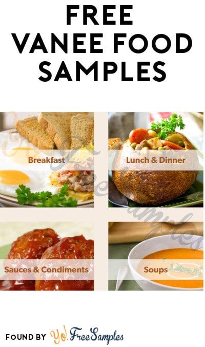 FREE Vanee Food Samples (Food Service Only)