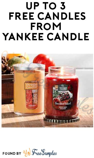 Up To 3 FREE Candles from Yankee Candle (Purchase + Coupon Required)