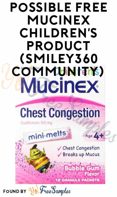 Possible FREE Mucinex Children's Product (Smiley360 Community)