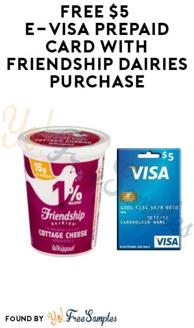 FREE $5 e-Visa Prepaid Card with Friendship Dairies Purchase