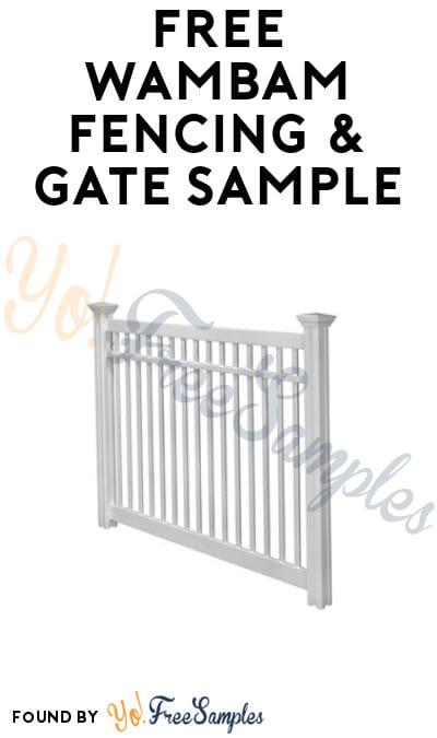 FREE WamBam Fencing & Gate Sample