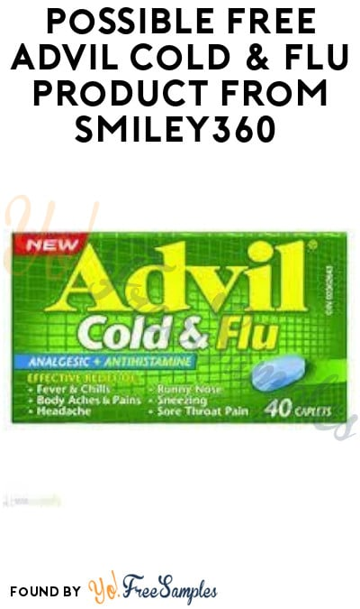 Possible FREE Advil Cold & Flu Product from Smiley360 (Select Accounts)