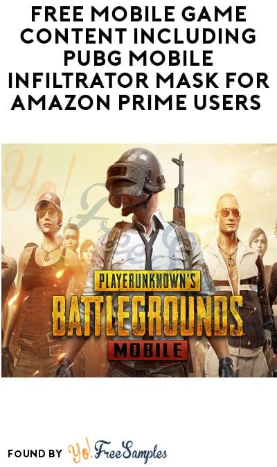 FREE Mobile Game Content Including PUBG Mobile Infiltrator Mask for Amazon Prime Users