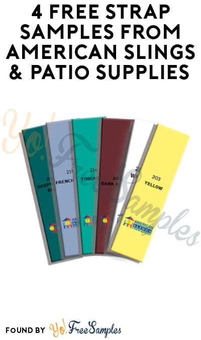 4 FREE Strap Samples from American Slings & Patio Supplies