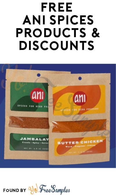 FREE Ani Spices Products & Discounts (Referring Required)