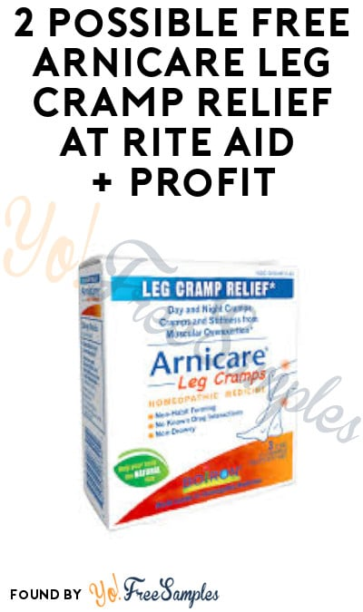 2 Possible FREE Arnicare Leg Cramp Relief at Rite Aid + Profit (Ibotta & Wellness+ Required)