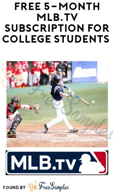 Back Through 2/28/2021! FREE MLB.TV Subscription for College Students (ID.me. Required)