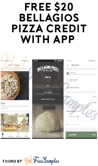 FREE $20 Bellagios Pizza Credit with App (Oregon Only)