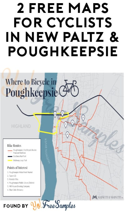 2 FREE Maps for Cyclists in New Paltz & Poughkeepsie
