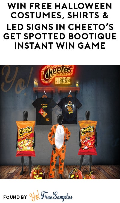 Enter Daily: Win FREE Halloween Costumes, Shirts & LED Signs in Cheeto's Get Spotted Bootique Instant Win Game (Codes Required)