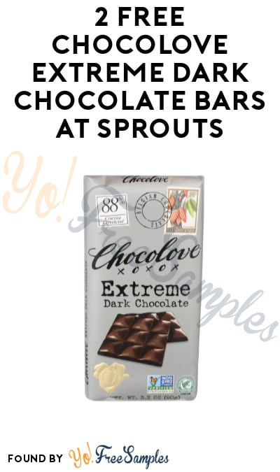 2 FREE Chocolove Extreme Dark Chocolate Bars at Sprouts (App Required)