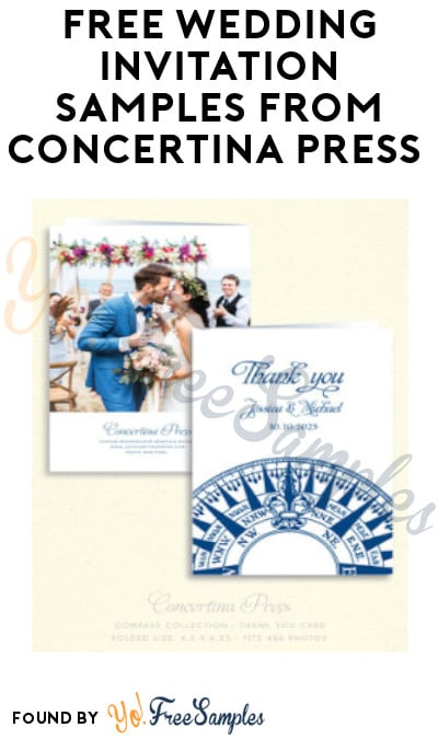 FREE Wedding Invitation Samples from Concertina Press