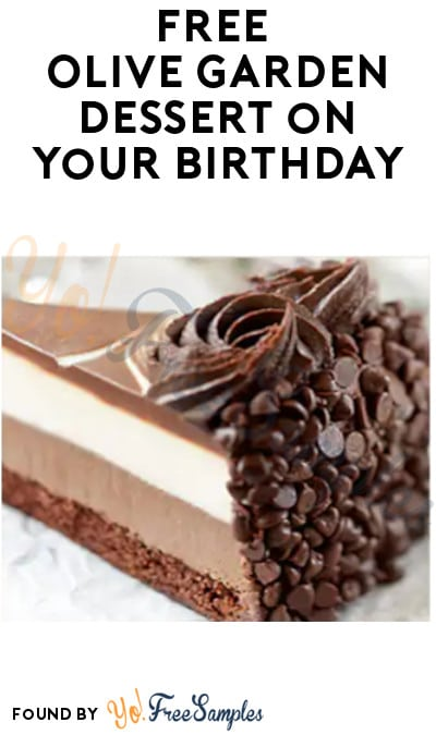 FREE Olive Garden Dessert on Your Birthday (Signup Required)