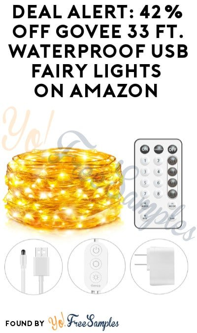 DEAL ALERT: 42% Off Govee 33 Ft. Waterproof USB Fairy Lights on Amazon (Code Required)