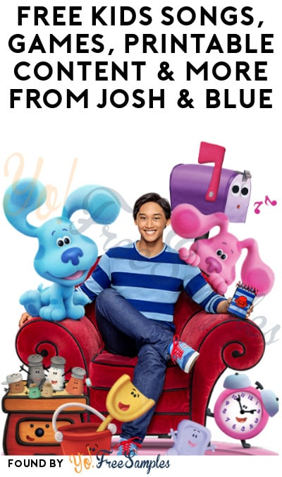 FREE Kids Songs, Games, Printable Content & More from Josh & Blue (Email Required)